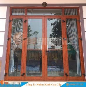 cửa-nhôm-kính-vân-gỗ